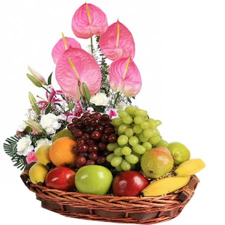 Fruits & Flowers Basket - Pinay Gifts