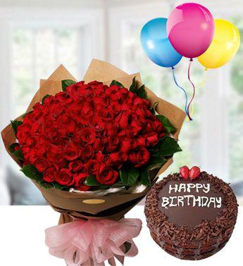pinaygifts com 50 red rose bunch chocolate cake happy birthday