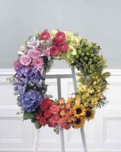 Color Block Standing Wreath