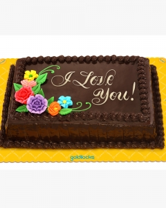 i LOVE YOU CHOCOLATE CAKE